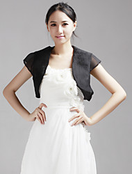 Wedding  Wraps Shrugs Short Sleeve Tulle White Wedding 38cm Cap Sleeves