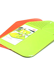 2 in 1 Folding Rinse and Chop Chopping Board Colander for Kitchen