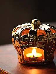 Crown Style Ceramic Candleholder
