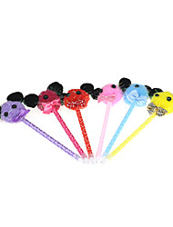 Animal Tie Textile Ornament Ballpoint Pen(3PCS Random Color)