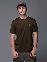 Men's T-shirt Camping / Hiking / Fishing / Climbing / Racing / Leisure Sports / Cycling/Bike Breathable / Quick Dry Summer Army GreenM /