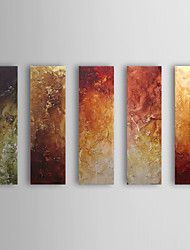 Hand-Painted Abstract 100% Hang-Painted Oil Painting,Classic Five Panels Canvas Oil Painting For Home Decoration
