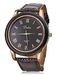 Мужской Нарядные часы Кварцевый Группа Коричневый бренд-