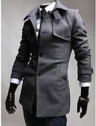 Single-Breasted Woolen Coat
