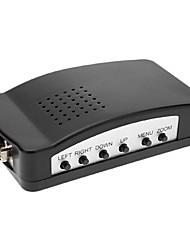 VGA para RCA + S-Video Conversor Preto Computador Para Televisão