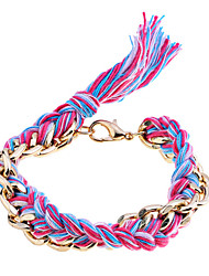 Lureme®Colorful Thread Chain Bracelet
