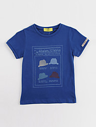 Anhela Baby Boy'S Stampa Royal Blue Maglie a manica corta