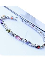Mi moda zircone colorato braccialetto placcato platino