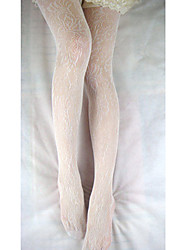 Específico White Rose Pattern Pantyhose