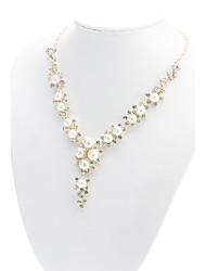 Necklace Chain Necklaces / Pearl Necklace Jewelry Daily Birthstones Pearl / Alloy White Gift