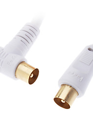 JSJ® 1.8M 5.9FT  Coaxial Male to Male Cable White for CCTV