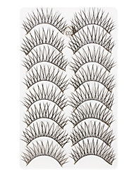 8Pcs Black Thick False Eyelash