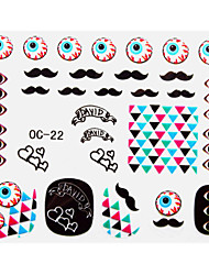 3PCS Cartoon Nail Art Stickers OC Sery No.8 (modèle assorties)