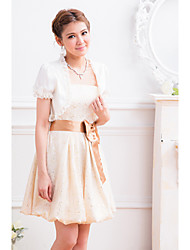 Holiday Lady Women's Sweet White Lace Bow Short Blouses