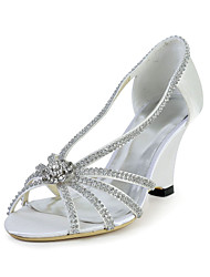 Bridal Speacial Satin Stiletto Sandals with Rhinestone Wedding/Special Occasion Shoes(More Colors)