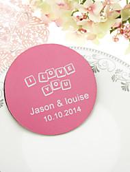Personalized Love Letters boda Posavasos-Juego de 4 (más colores)