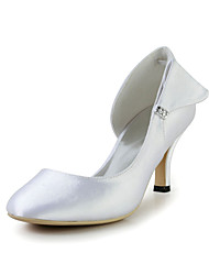 Bridal Satin Stiletto Heel Pumps with Bowknot and Rhinestone Wedding/Special Occasion Shoes(More Colors)