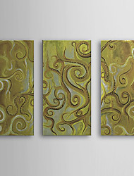 Hand Painted Oil Painting Abstract with Stretched Frame Set of 3 1308-AB0579