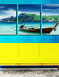 Leinwand Kunst Landschaft Blue Sea and Sky 3er Set