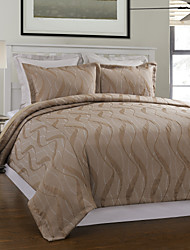 3-teiliges Modern Style Khaki Jacquard Bettbezug Set