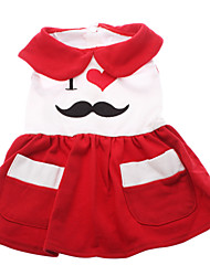 Dog Dress Red Dog Clothes Summer Letter & Number