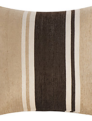"18 ""Quadrat Khaki & Coffee Chenille Dekorative Kissenbezug"