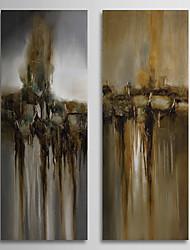 Hand Painted Oil Painting Abstract Waterfall with Stretched Frame Set of 2 1309C-AB0801