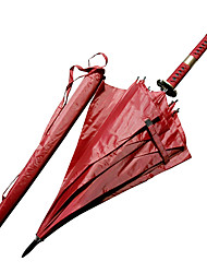Roronoa Zoro Three Sword Style Sandai Kitetsu Samurai Umbrella Sword (Red)