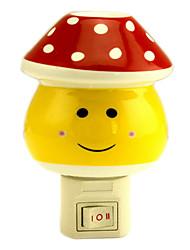 Red Dots Mashroom LED-Nachtlicht (110V-240V)
