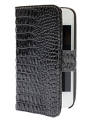 Alligator Pattern PU Leather Case with Magnetic Snap for iPhone 4/4S