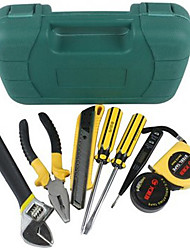 9 Pcs Tool Kits Case with Hard Carrying Handle for Your Car& Home& Office Use