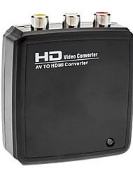 hdmi v1.3 weiblichen zu 3xRCA weiblichen Adapter schwarz