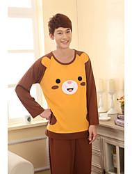 Men's Cute Bear Pattern Knit Lounge Wear