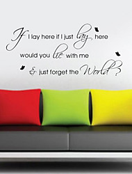 Just Forget the World Wall Sticker