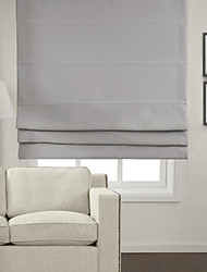 Chic Light Grey Blackout Roman Shade