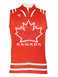 Kooplus2013 Championship Jersey Canada 100% Polyester Wicking Fibers Sleeveless Cycling Vest with Reflective Tape