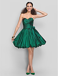 TS Couture® Dress - Dark Green Plus Sizes / Petite A-line / Princess Sweetheart Short/Mini Taffeta