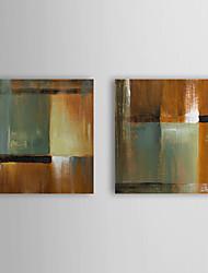 Peint à la main Peinture à l'huile abstraite avec cadre étiré Lot de 2 1308-AB0722