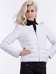Women's Coats & Jackets , Feather Casual Long Sleeve YOUTIME
