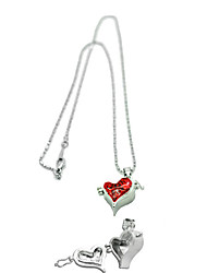Star-Stealing Meisje Alloy Heart Box Hanger Collier
