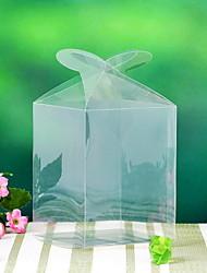 12 pièce / set titulaire de faveur - des boîtes de faveur cuboïde PVC transparent