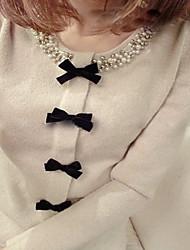Prendas de punto Beads Escote arco de las mujeres T-shirts