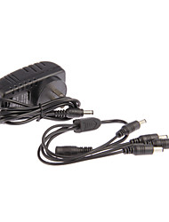 CA 12V 2A Cavo di alimentazione CCTV Camera Power Adapter 100-240V DC + 1-4 PER CAMERA