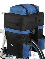 Outdoor Rainproof Multifunctional Bike Luggage Carrying Bag - Black + Blue (67L)
