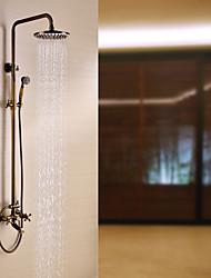 Sprinkle® von lightinthebox - Messing antik Badewanne Dusche Wasserhahn mit 8-Zoll-Duschkopf + Handbrause