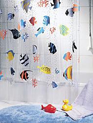 Тропические рыбы схеме ПВХ Shower Curtain