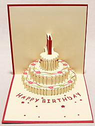 Three-dimensional Three-tiered Cake Greeting Card (More Colors)