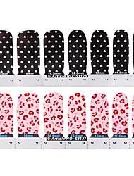 yemannvyou®24pcs creme de banda desenhada completa cobertura do prego etiquetas dos desenhos animados de gelo (padrões variados, 2x12pcs)