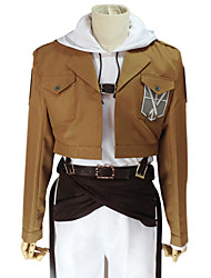 Inspired by Attack on Titan Annie Leonhardt Anime Cosplay Costumes Cosplay Suits Solid Long SleeveCoat Top Pants Waist Accessory Belt