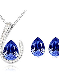 Jewelry-Necklaces / Earrings(Crystal / Alloy)Wedding / Daily Wedding Gifts